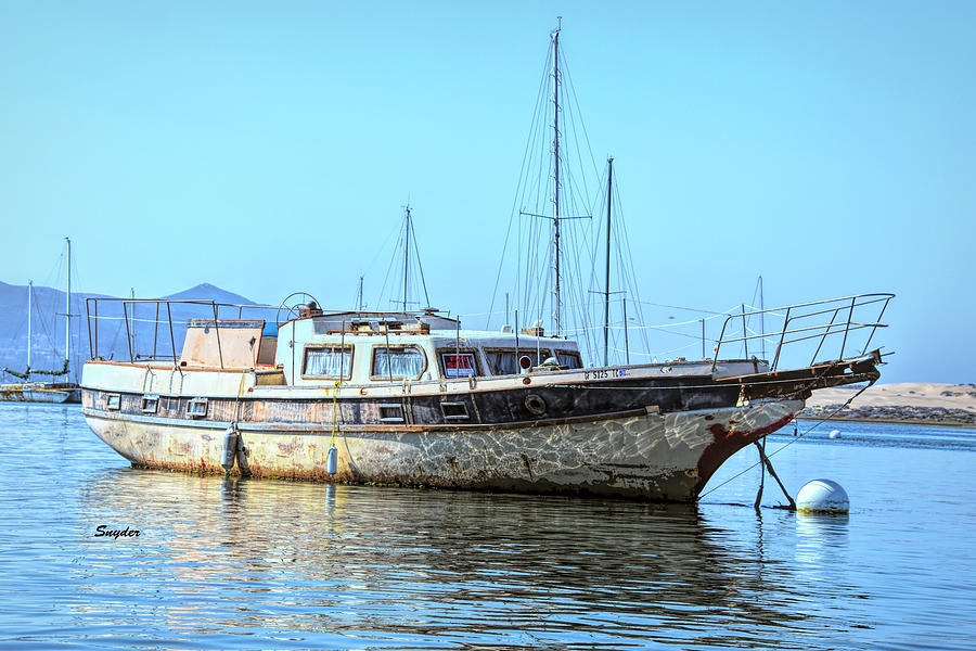 Old Scow For Sale Morro Bay Photograph
