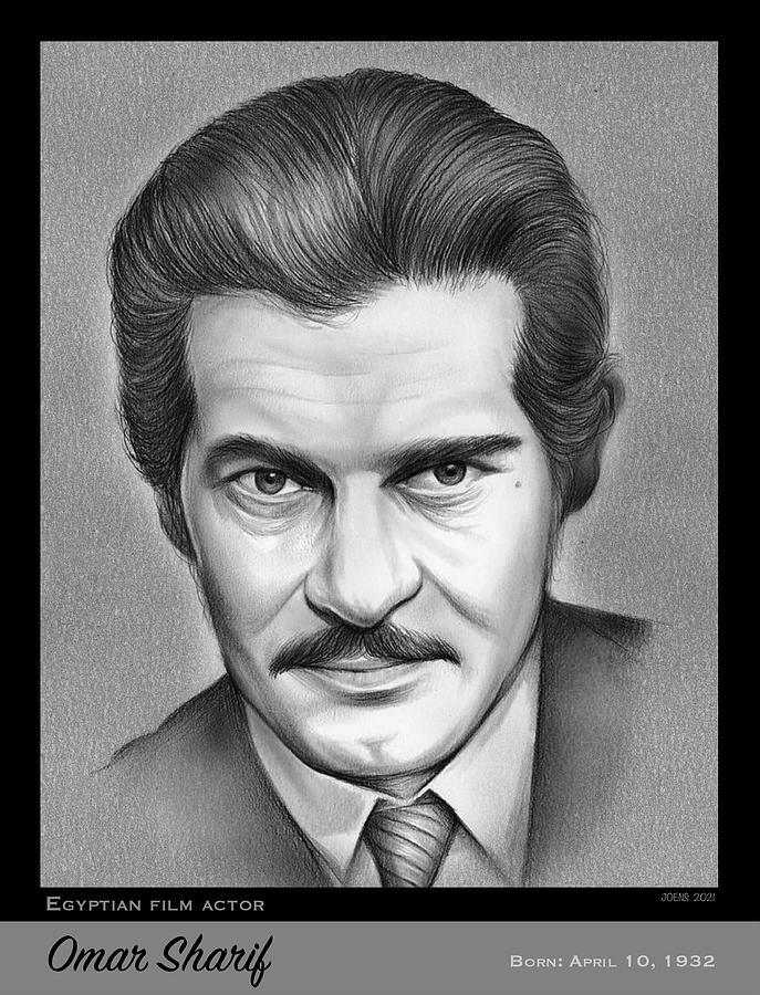 Egyptian Drawing - Omar Sharif by Greg Joens