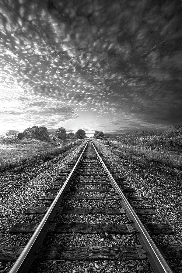 On A Train Bound For Nowhere by Phil Koch