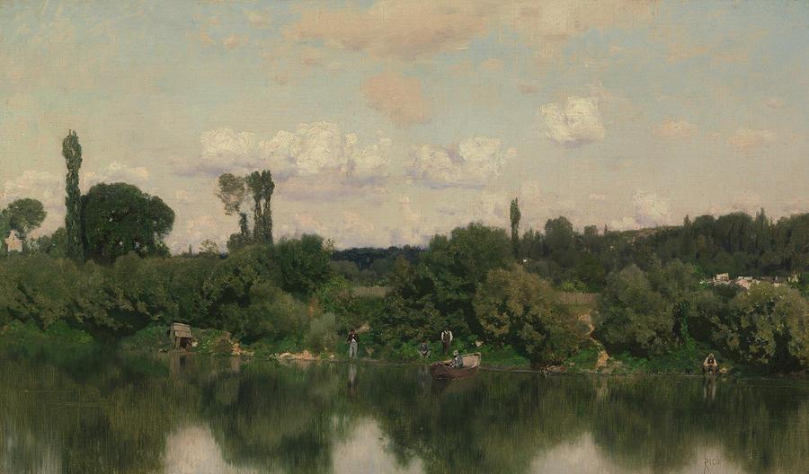 On the Seine by Martin Rico y Ortega