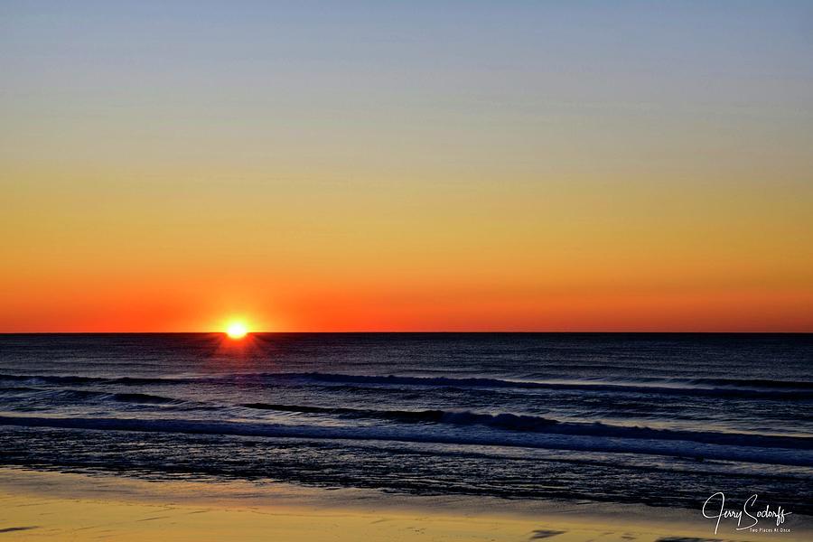 Oregon Coast Sunset by Jerry Sodorff