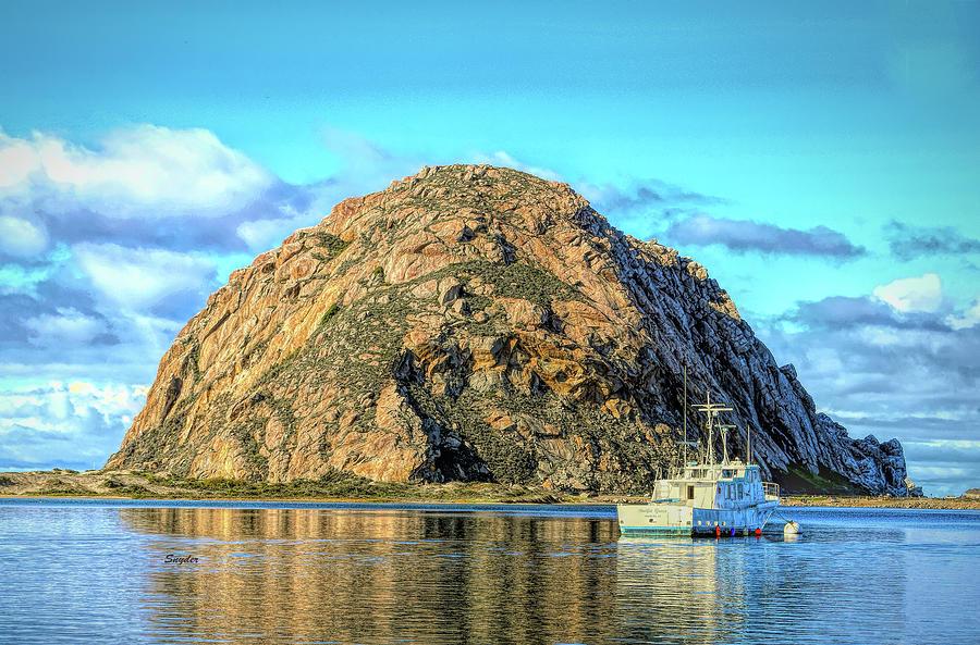 Pacific Grace Anchored At Morro Rock Photograph