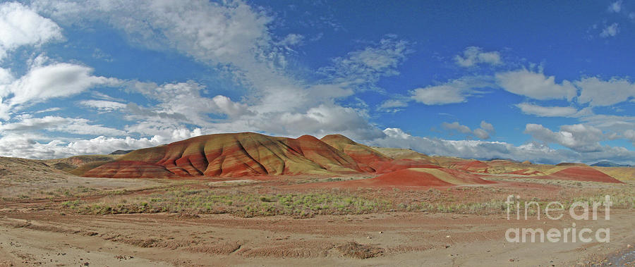Painted Hills Photograph - Painted Hills by Gary Wing