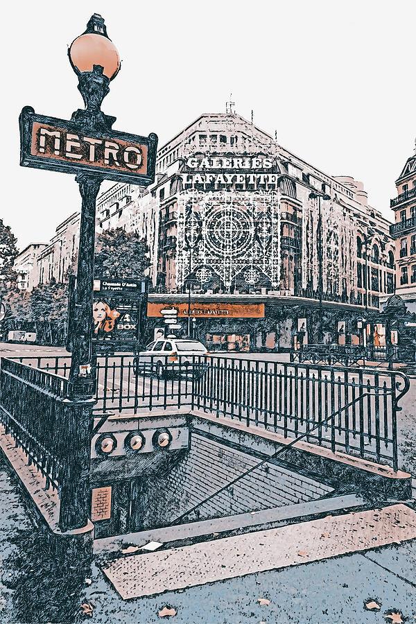 Paris Panorama - 21 by AM FineArtPrints