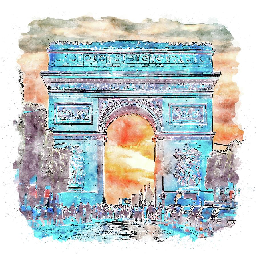 Paris Panorama - 22 by AM FineArtPrints