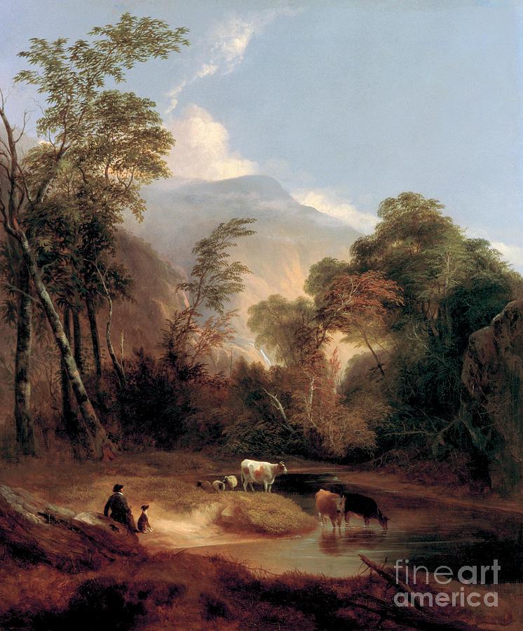 Pastoral Landscape by Alvan Fisher