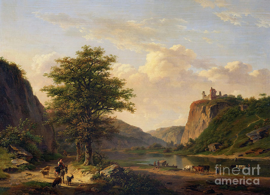Pastoral Landscape by Jan Baptiste de Jonghe