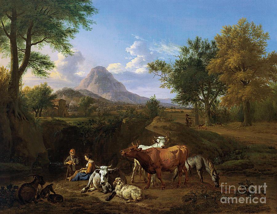 Pastoral Scene by Adriaen van de Velde