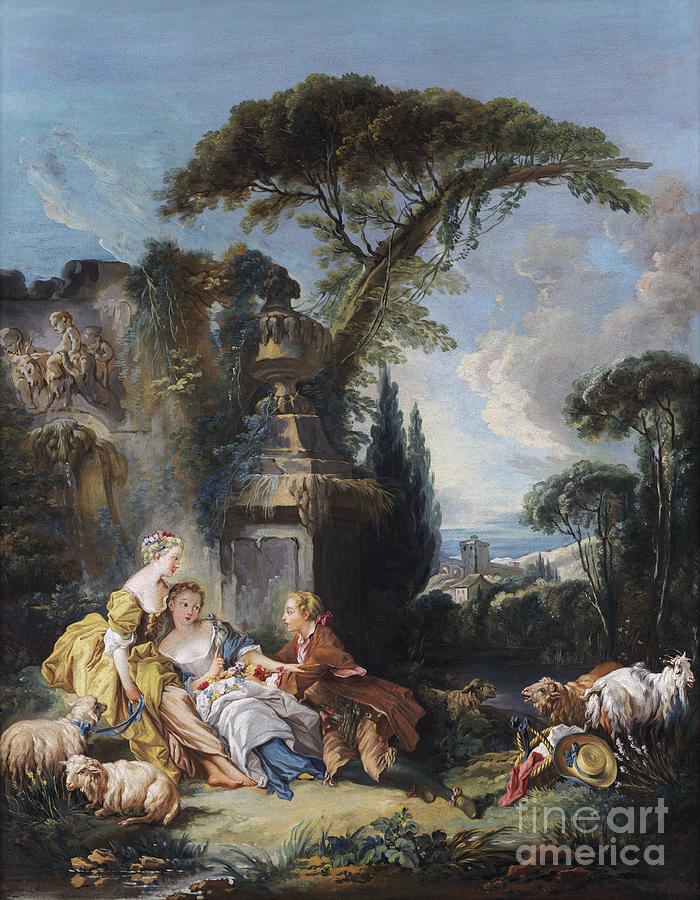 Pastoral Scene by Francois Boucher