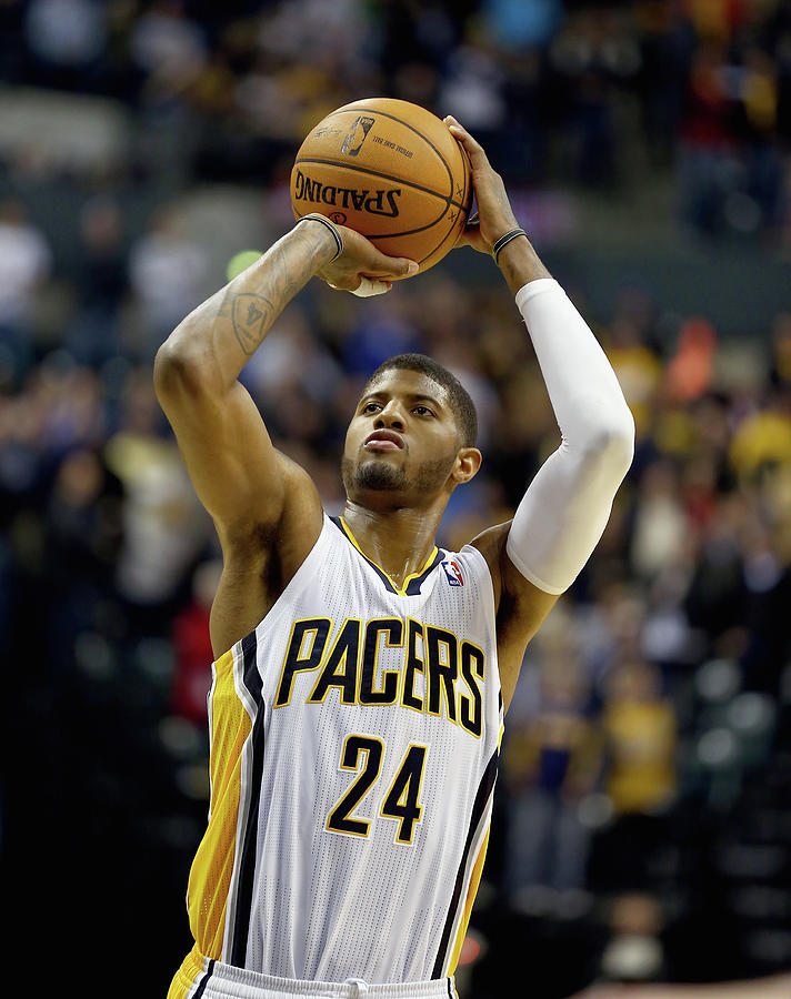 Paul George Photograph by Andy Lyons