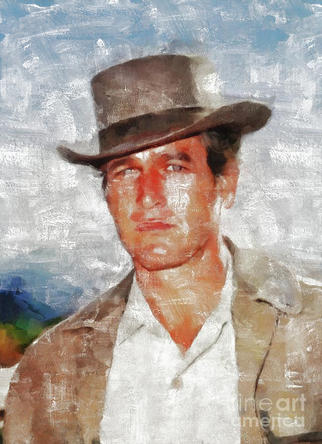 Paul Painting - Paul Newman, Hollywood Legend by Esoterica Art Agency