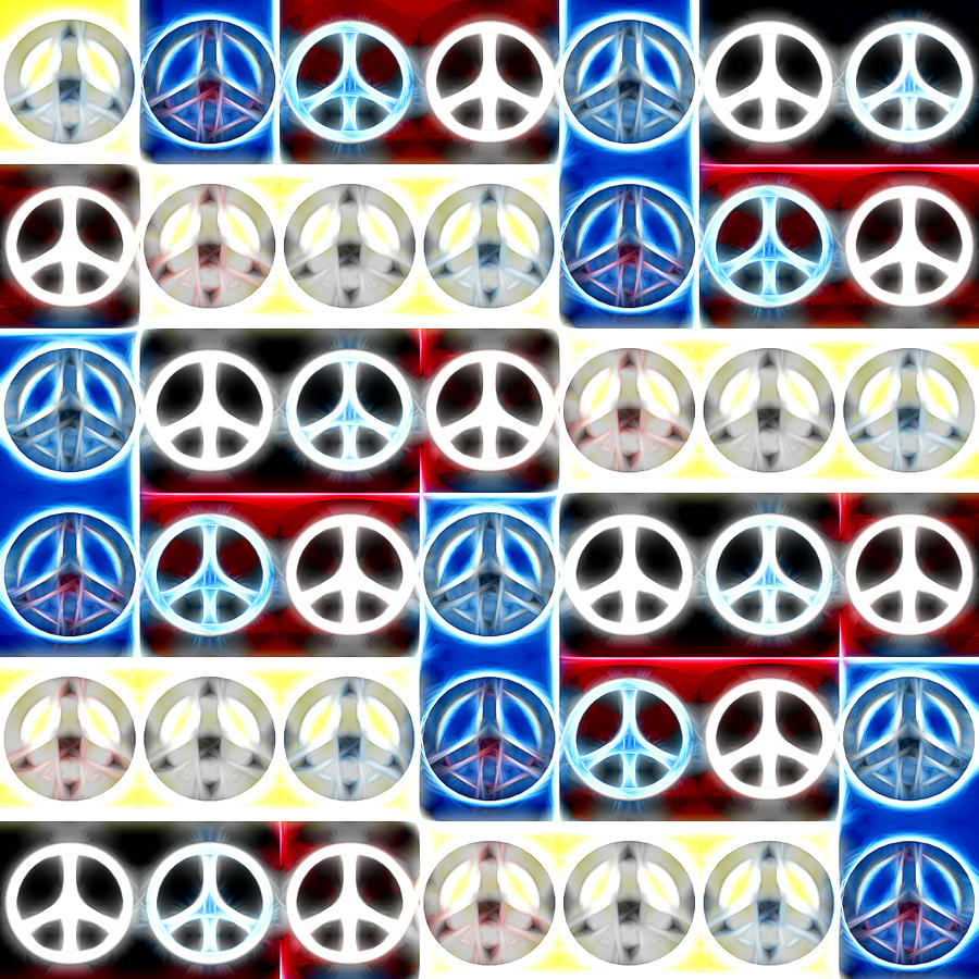 Peace Signs Abstract Digital Art