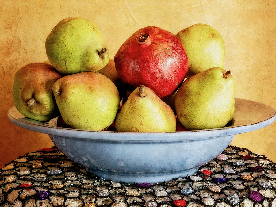 Pears and Pomegranate by Sandra Selle Rodriguez