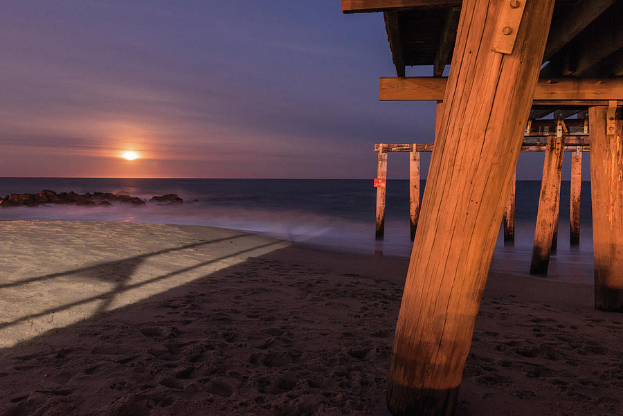 Ocean Grove Photograph - Pier Side by Kristopher Schoenleber
