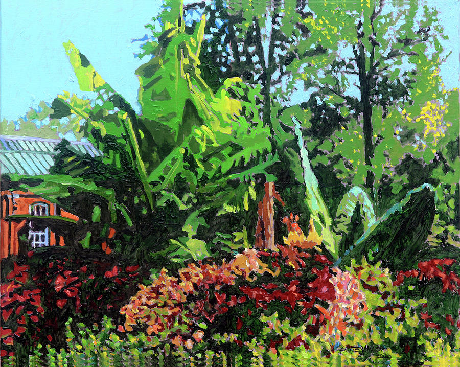 Tower Grove Park Painting - Piper Palm House by John Lautermilch