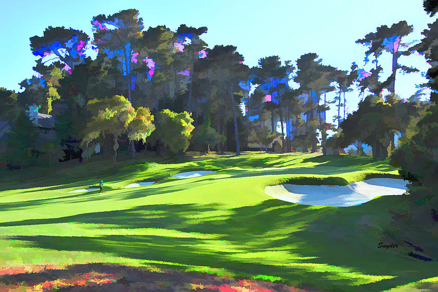 Pitching To The 16th At Spyglass Hill Black Dog Photograph