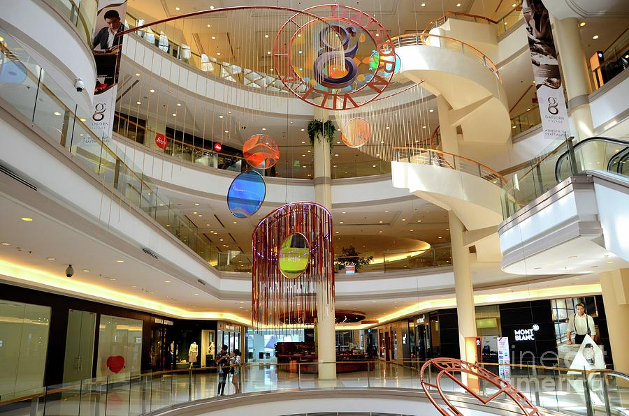 Plush Elegant Interior Of Gaysorn Village Shopping Mall Bangkok Thailand Photograph
