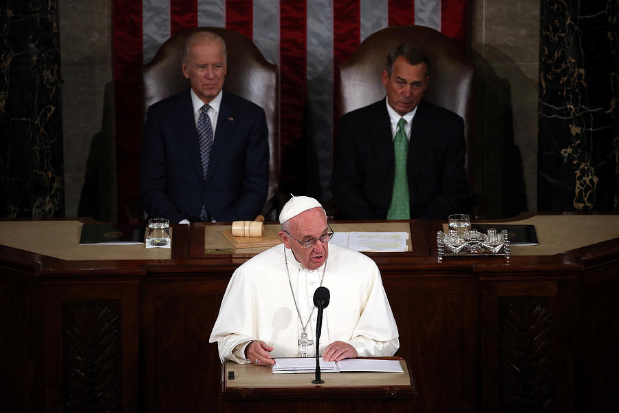 Pope Francis Addresses Joint Meeting Of U.S. Congress Photograph by Mark Wilson