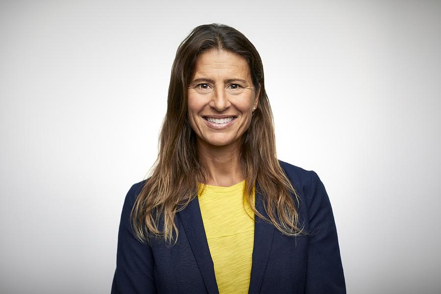 Portrait of smiling mature businesswoman Photograph by Morsa Images