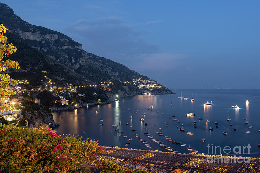 Positano Photograph - Positano Lights by Kasra Rassouli
