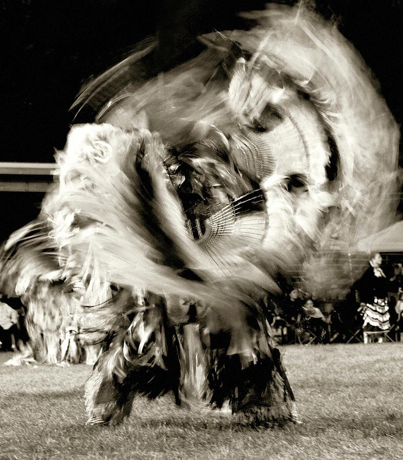 pow wow dancer by Cynthia Dickinson