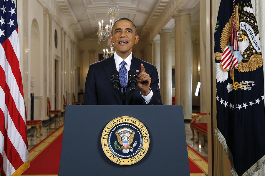 President Obama Delivers Remarks On Executive Action Immigration Reform Photograph by Pool