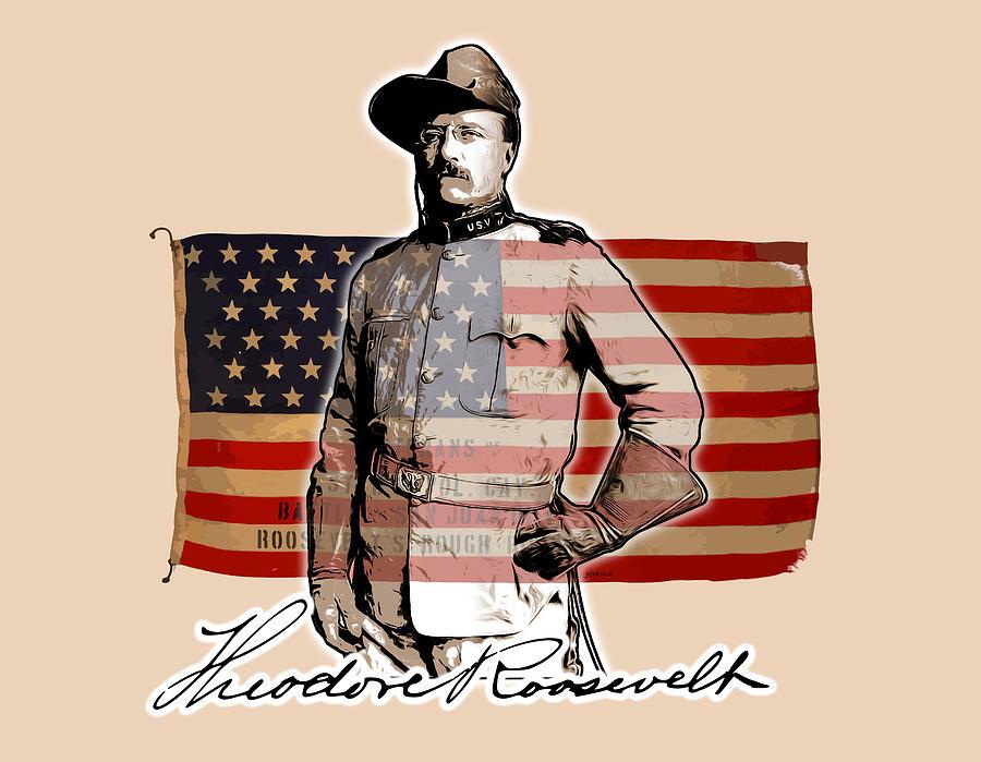 President Teddy Roosevelt Digital Art