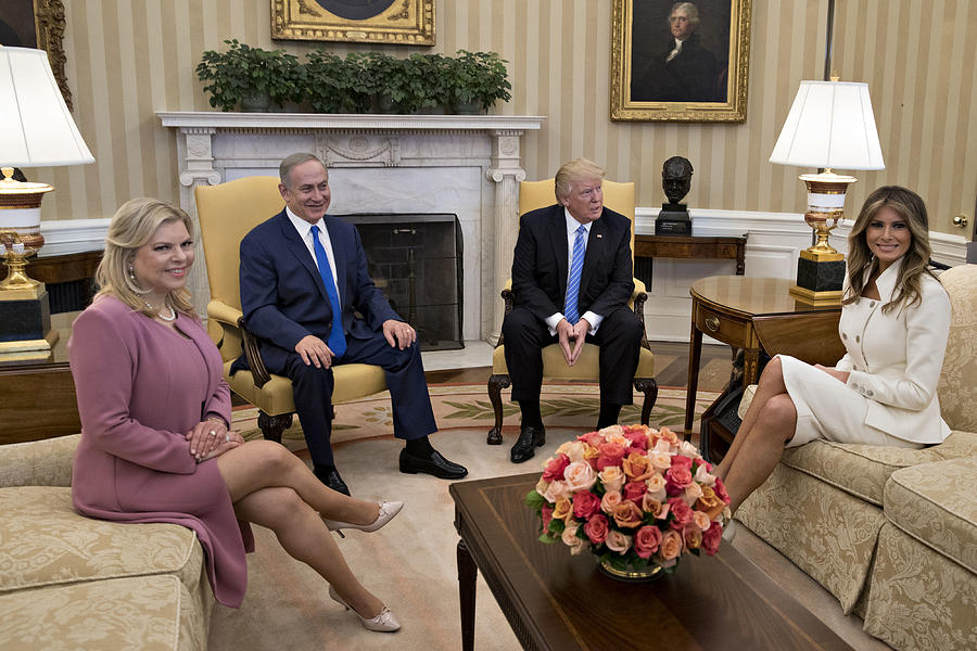 President Trump Meets With Israeli Prime Minister Benjamin Netanyahu At The White House Photograph by Pool