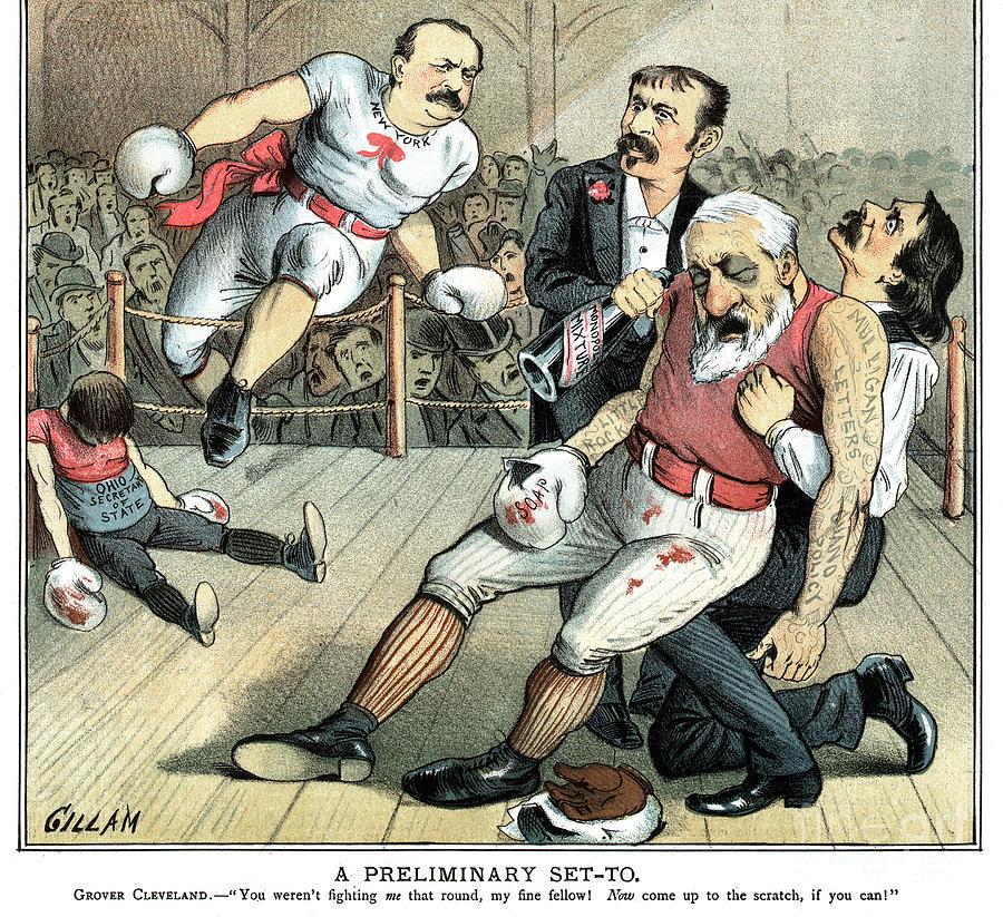 Presidential Election Cartoon, 1884 by Bernhard Gillam