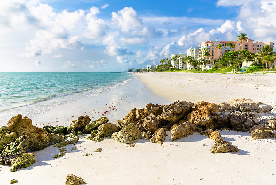 Pristine and idyllic beach at sunset in a bright day, Naples, Florida, USA Photograph by Pola Damonte via Getty Images