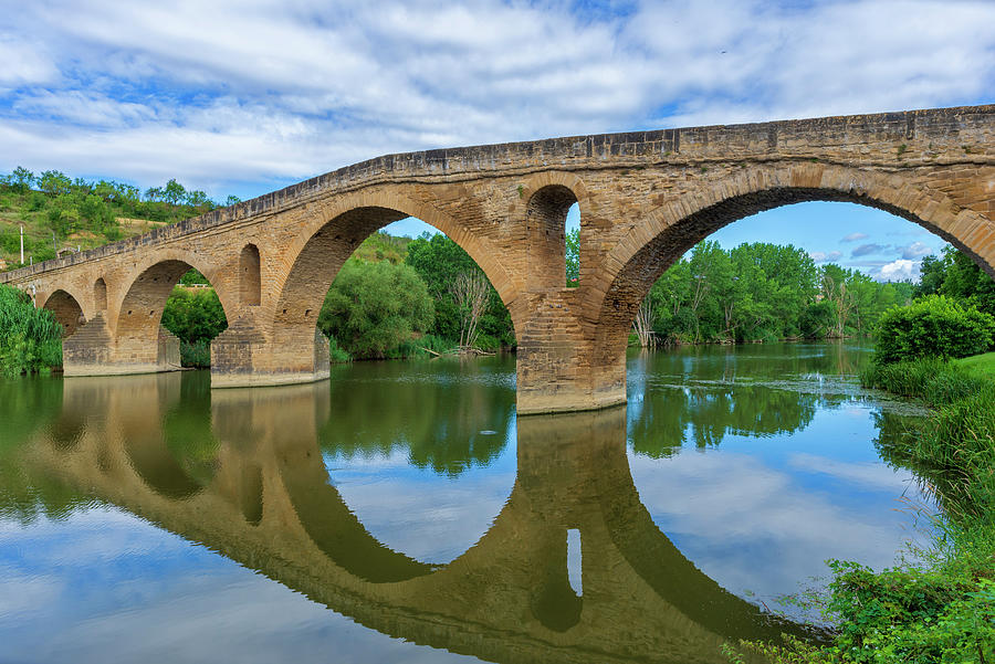 Navarra Photograph - Puente La Reina On The Road To Santiago by Vicen Photography