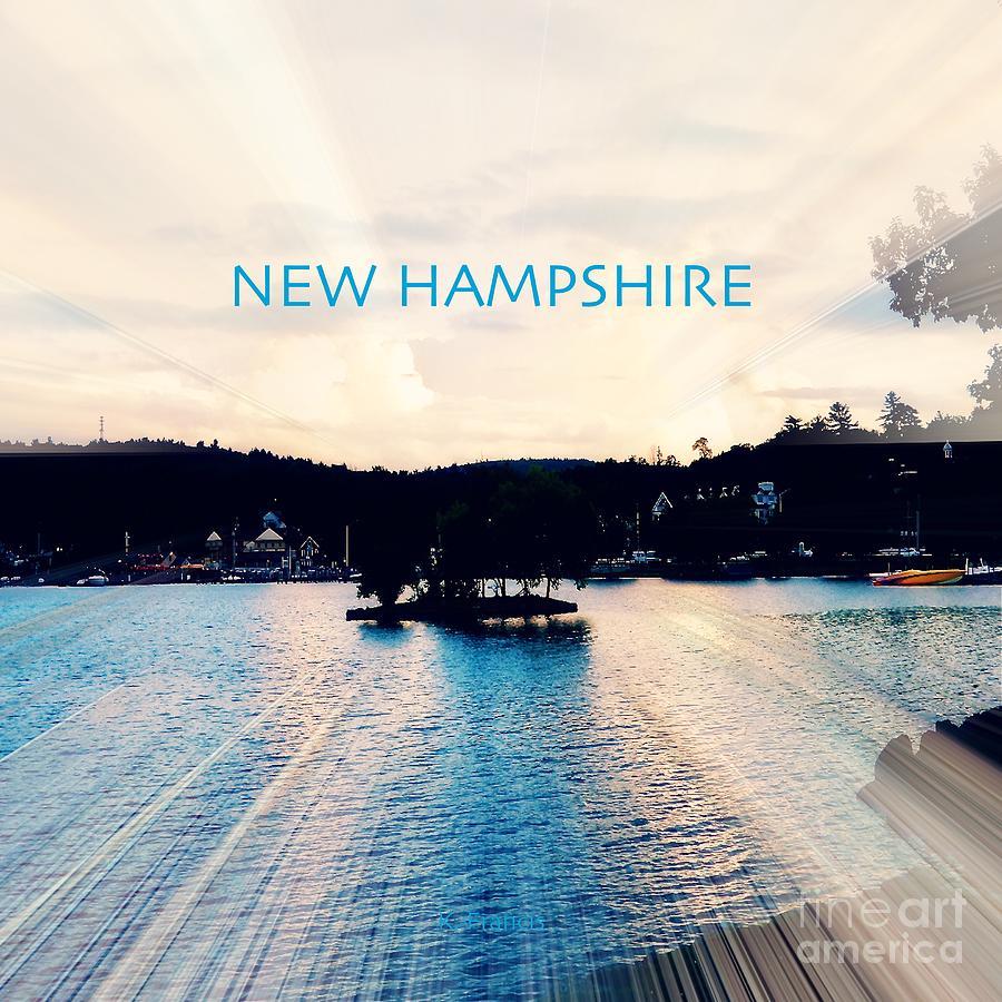 Lake Digital Art - Radiant New Hampshire by Karen Francis