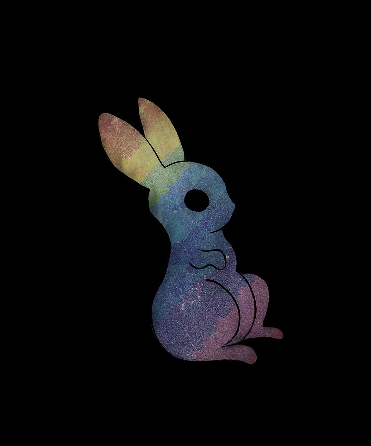 Rainbow magic bunny of the galaxy black by Andrea