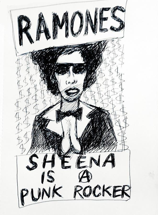 Ramones Sheena 1977 Drawing Drawing