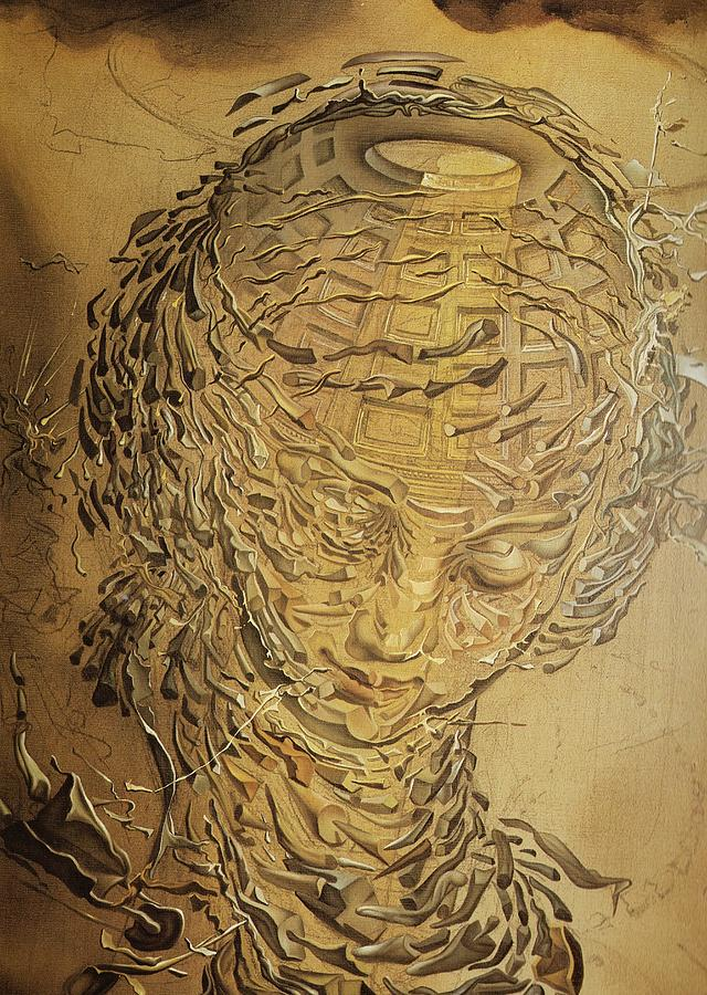 Raphaelesque Head Exploding Painting by Salvador Dali