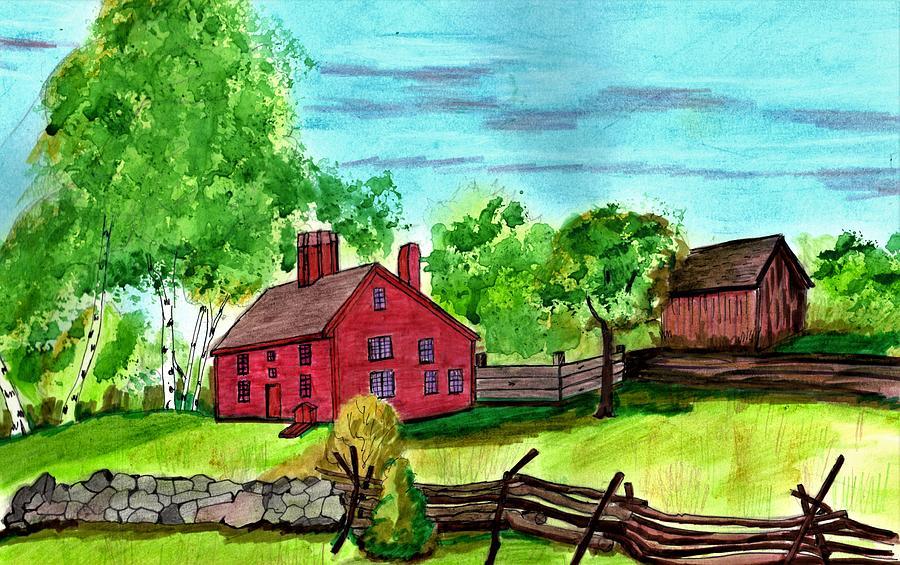 Rebecca Nurse Homestead Drawing