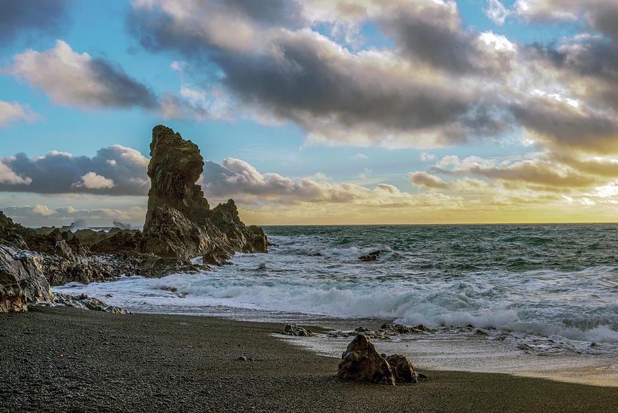 Reynisfjara Black Sand Beach, Iceland Photograph