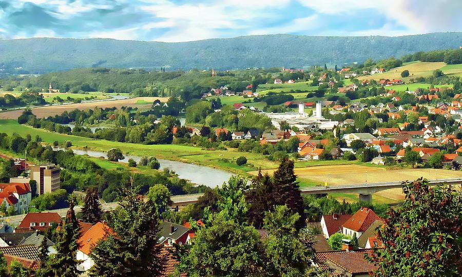 Rhine River Valley Scenic Photograph