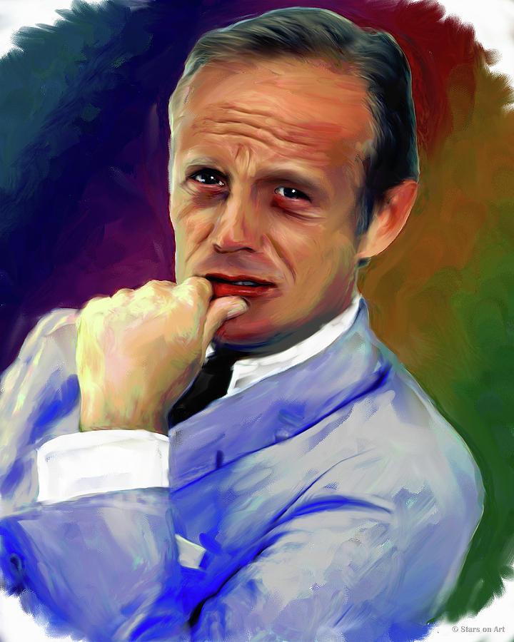 Richard Widmark Painting