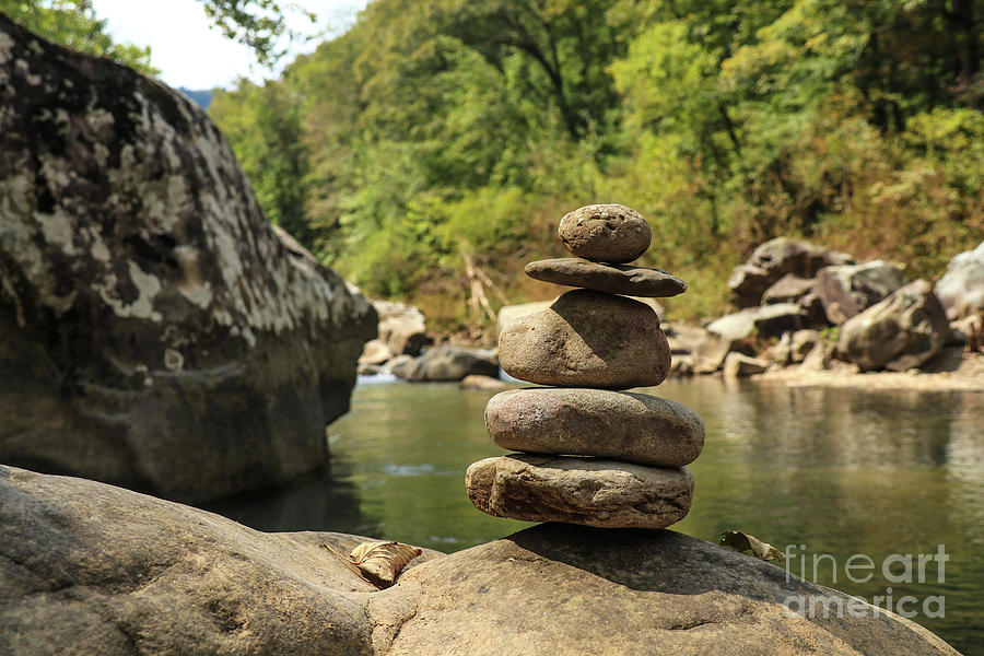 Richland Creek Cairn by Garry McMichael