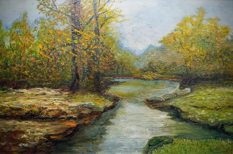 River Painting - River by Clyde Hettrick