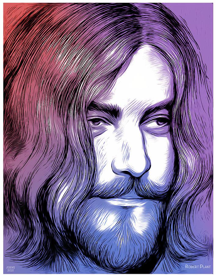 Robert Plant Mixed Media - Robert Plant by Greg Joens