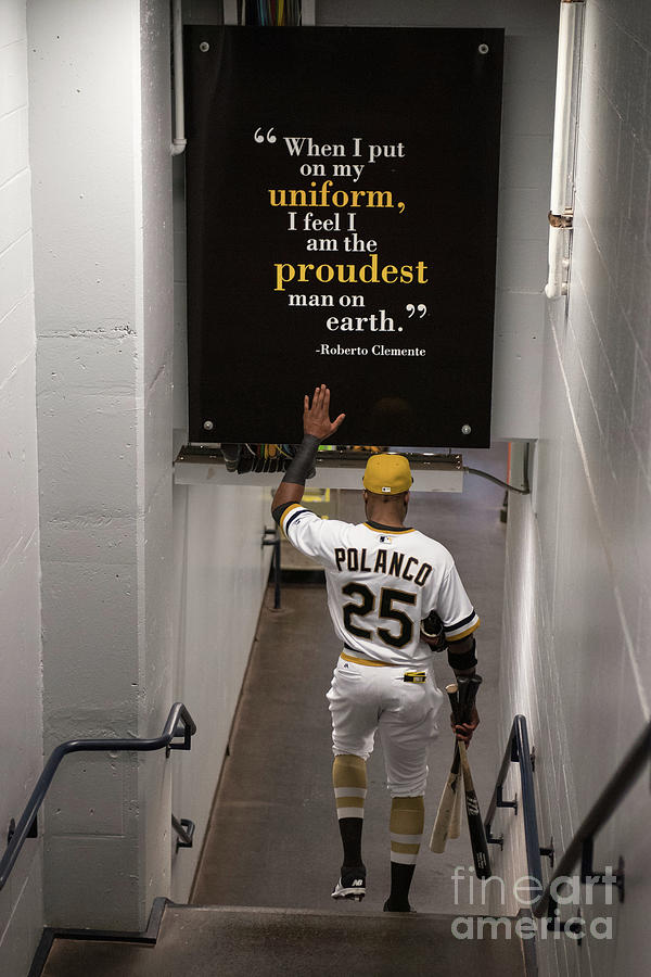 Roberto Clemente and Gregory Polanco Photograph by Justin Berl