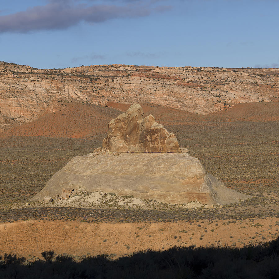 Rock formations in a desert Photograph by Fotosearch