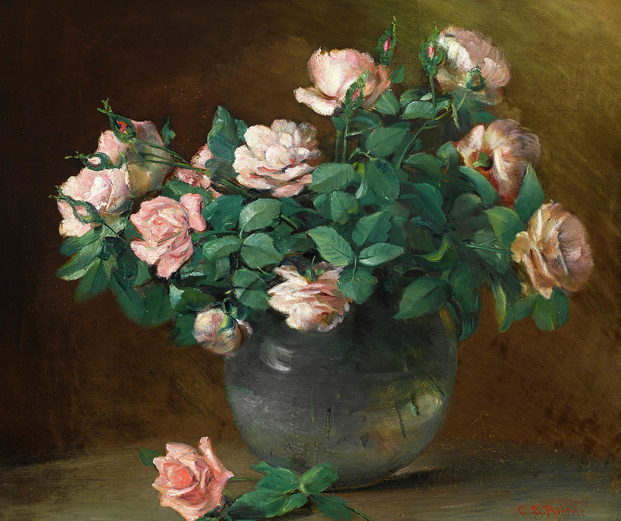 Porter Painting - Roses, 1882 by Charles Ethan Porter