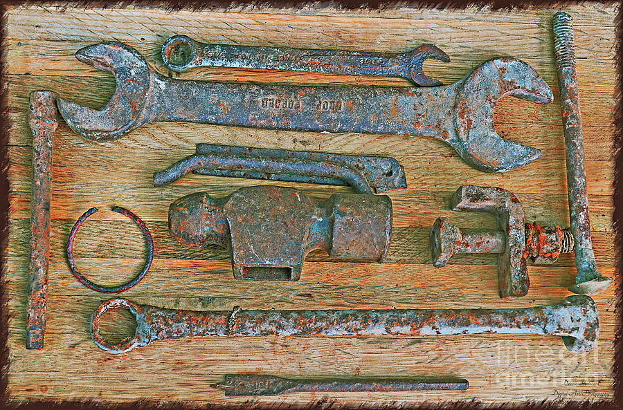 Rusty Metal Objects 7-1 Photograph by Debbie Portwood