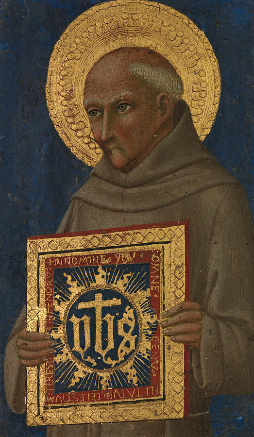 Saint Bernardino by Workshop of Sano di Pietro