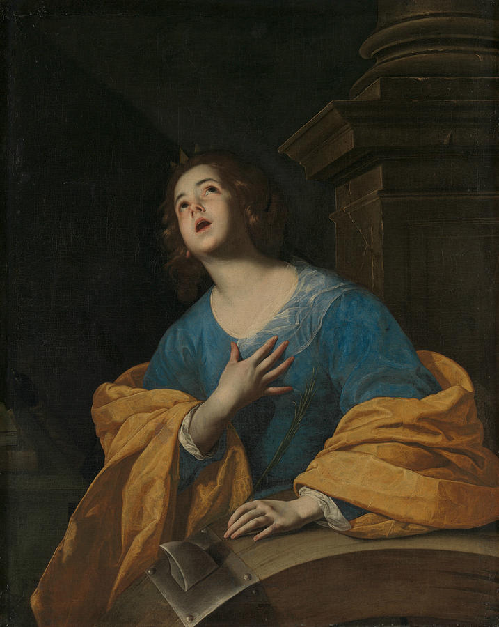Saint Catherine of Alexandria by Workshop of Bernardo Cavallino