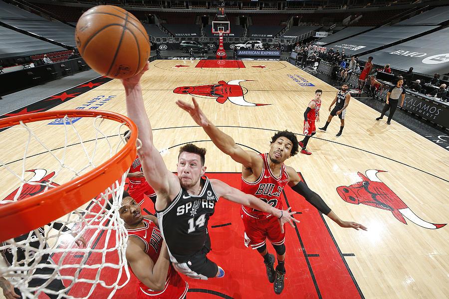San Antonio Spurs vs. Chicago Bulls Photograph by Jeff Haynes