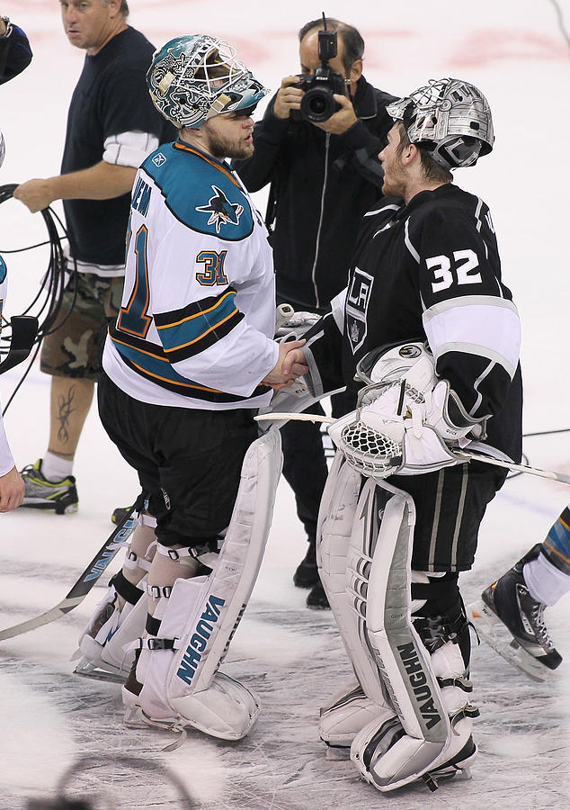 San Jose Sharks v Los Angeles Kings - Game Seven Photograph by Victor Decolongon